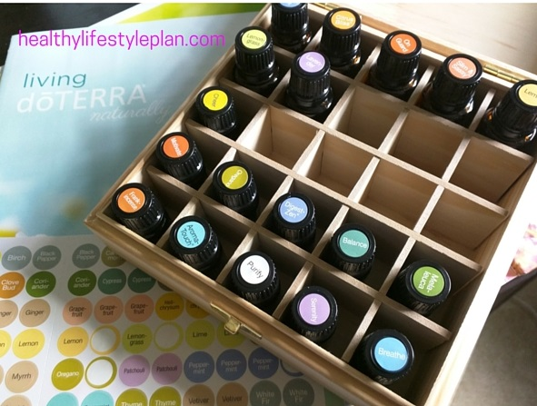 Wooden Box and Top Stickers for Essential Oils