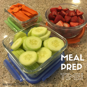 Prep meals for your healthy lifestyle