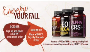 October doTERRA oil promotions