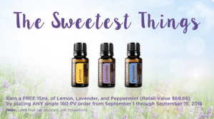 September essential oil promotion
