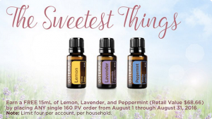 Essential oils special for August 2016
